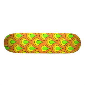 70s green orange pattern skate boards
