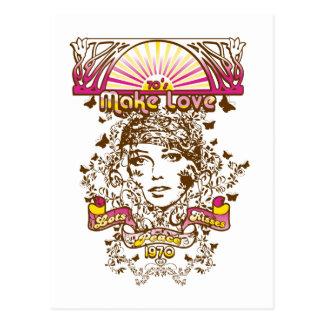 70s make love lots peaces kisses 1970 postcards
