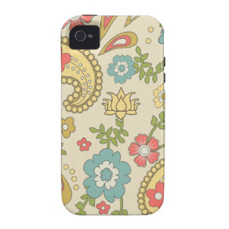 70's Paisley Pattern iPhone 4/4S Covers