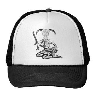 70's pin-up skull cap