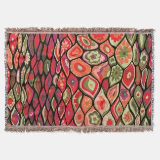 70s psychedelic throw blanket