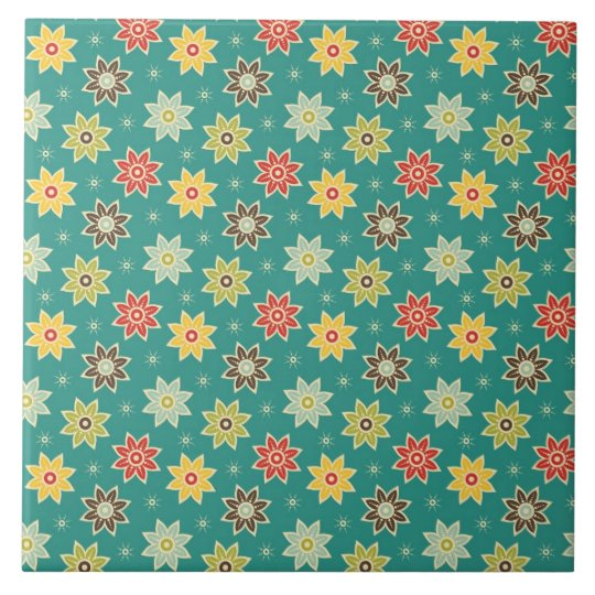70s Retro Flower Pattern Tile