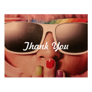 70's Retro Girl Thank You Postcard
