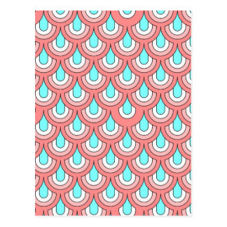 70s retro pattern,reach postcard