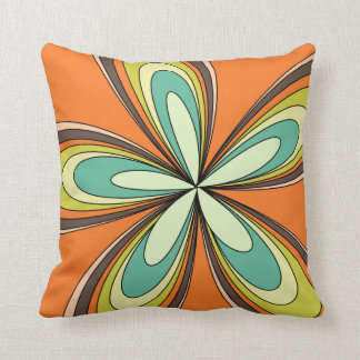 70's retro spring hippie flower power cushion