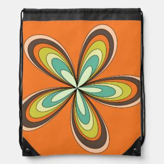 70's retro spring hippie flower power rucksacks