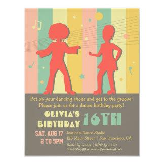 70s Retro Teen Disco Dance Birthday Party 11 Cm X 14 Cm Invitation Card