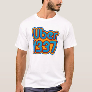 70s Retro Uber 1337 Destroyed T-Shirt