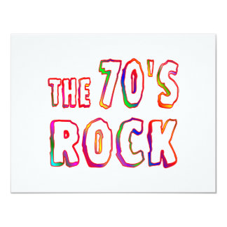 "70s Rock 4.25"" X 5.5"" Invitation Card"