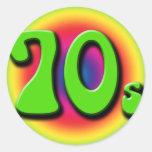 70s round stickers