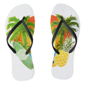 70's summer elements flip flop slippers