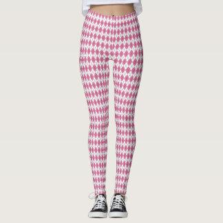 70s Tartan-Pattern Pinky Leggings