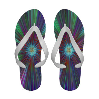 70's tie dye style design slippers sandals