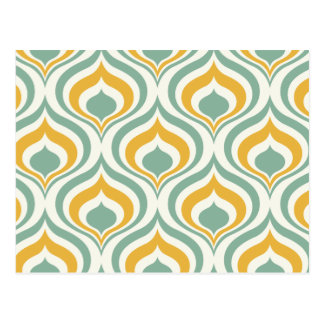 70's Wallpaper Pattern Postcard