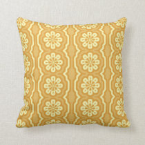 70s Yellow and Mellow Fun Cushion