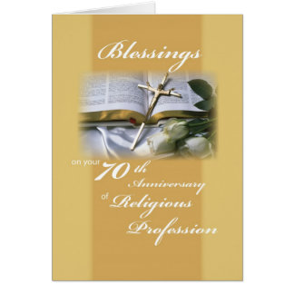 70th Anniversary of Religious Profession for Nun Card