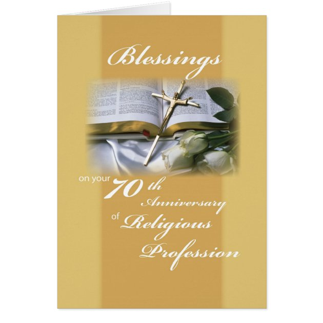 Th anniversary of religious profession for nun card zazzle