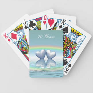 70th Anniversary Platinum Hearts Poker Deck