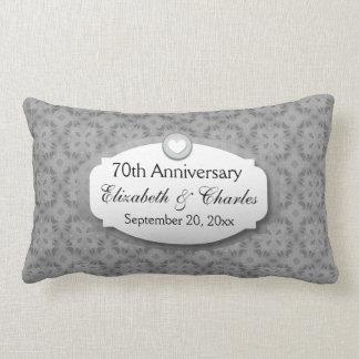 70th Anniversary Wedding Anniversary Platinum Z03 Lumbar Cushion