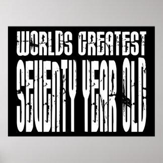 70th Birthday 70 World s Greatest Seventy Year Old Print