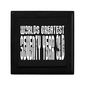 70th Birthday 70 World's Greatest Seventy Year Old Jewelry Box