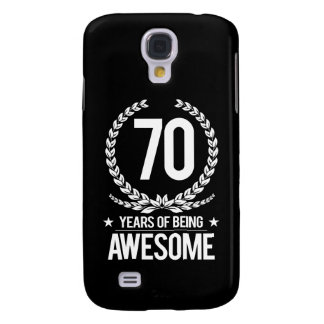 70th Birthday (70 Years Of Being Awesome) Galaxy S4 Case