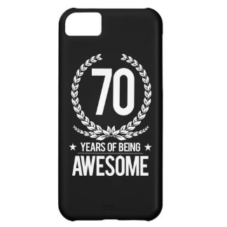 70th Birthday (70 Years Of Being Awesome) iPhone 5C Case