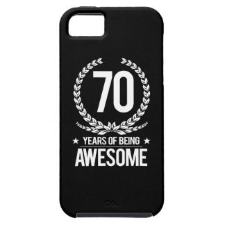 70th Birthday (70 Years Of Being Awesome) Tough iPhone 5 Case
