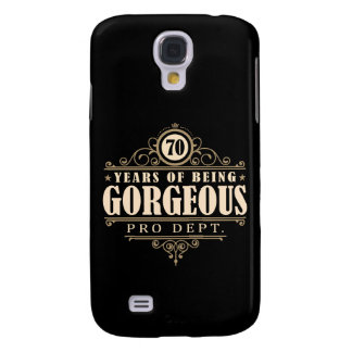 70th Birthday (70 Years Of Being Gorgeous) Galaxy S4 Case