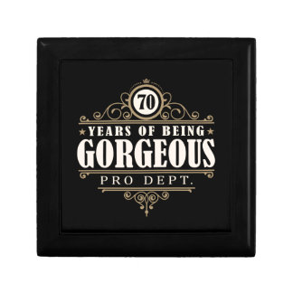 70th Birthday (70 Years Of Being Gorgeous) Small Square Gift Box