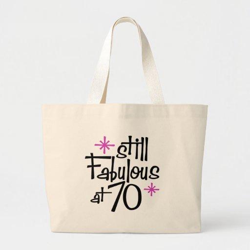 70th Birthday Canvas Bag