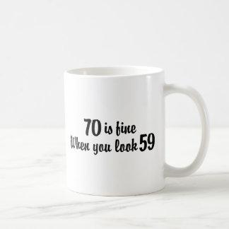 70th Birthday Basic White Mug