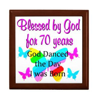 70TH BIRTHDAY BLESSING LARGE SQUARE GIFT BOX