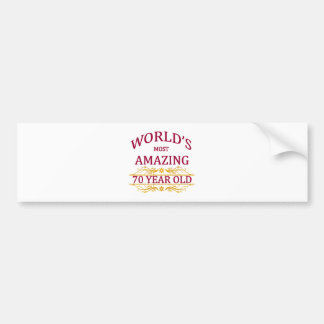 70th. Birthday Bumper Sticker