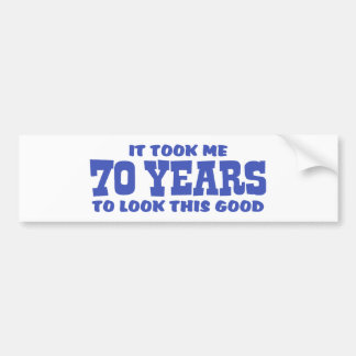70th Birthday Bumper Sticker