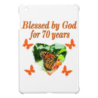 70TH BIRTHDAY BUTTERFLY PHOTO DESIGN iPad MINI CASES