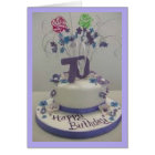70th Birthday Cake Card