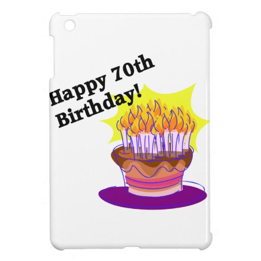 70th Birthday Cake iPad Mini Cover