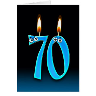 70th Birthday Candles Greeting Card