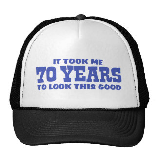 70th Birthday Cap