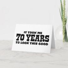 Birthday 70 Greeting Cards, Birthday 70 Note Cards
