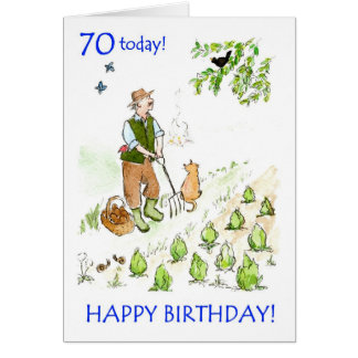 70th Birthday Card for a Gardener