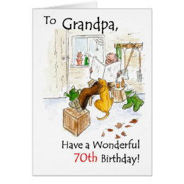 Grandfather 70th birthday cards invitations zazzle 70th birthday card for a grandfather bookmarktalkfo Image collections