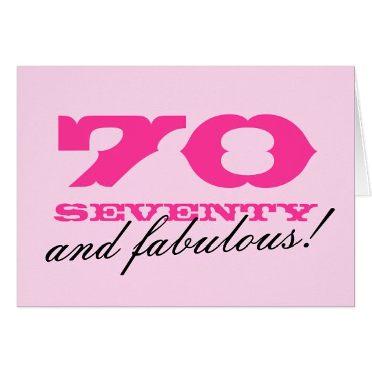70th Birthday card for women | 70 and