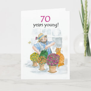 For Gardeners 70th Birthday Cards
