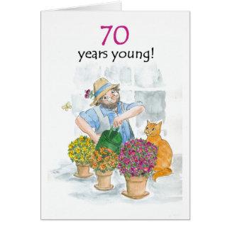 70th Birthday Card - Gardener