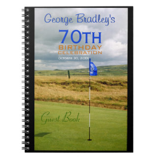 70th Birthday Celebration Golf Guest Book