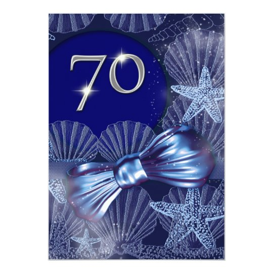 70th birthday celebration party major CUSTOMIZE Card