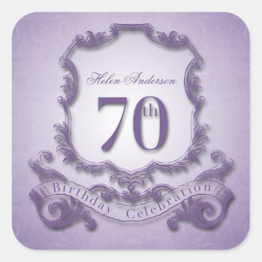 70th Birthday Celebration Personalised Stickers