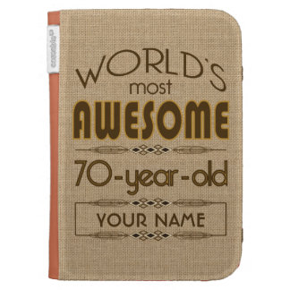70th Birthday Celebration World Best Fabulous Cases For Kindle